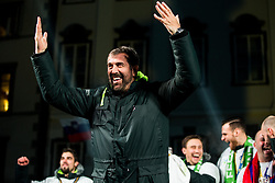 Veselin Vujovic, head coach during reception of Slovenian National Handball Men team after they placed third at IHF World Handball Championship France 2017, on January 30, 2017 in Mestni trg, Ljubljana centre, Slovenia. Photo by Vid Ponikvar / Sportida