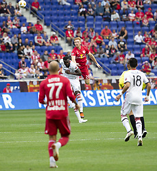 September 22, 2018 - Harrison, New Jersey, United States - Tim Parker (26) of New York Red Bulls & Jozy Altidore (17) of Toronto FC fight for ball during regular MLS game at Red Bull Arena Red Bulls won 2 - 0 (Credit Image: © Lev Radin/Pacific Press via ZUMA Wire)