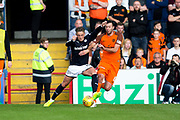 Dundee midfielder Scott?Allan (#10) takes on Dundee United defender Lewis Toshney (#6) during the Betfred Scottish Cup group stage match between Dundee and Dundee United at Dens Park, Dundee, Scotland on 29 July 2017. Photo by Craig Doyle.
