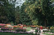 Deutschland, Germany,Baden-Wuerttemberg.Schwarzwald.Baden-Baden, Kurpark, Blumenbeete.Black Forest, Baden-Baden, park, flowerbeds...