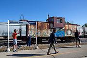 Ett kort stopp i Winona, Minnesota, ger m&ouml;jlighet att str&auml;cka p&aring; benen.<br /> <br /> Foto: Christina Sj&ouml;gren