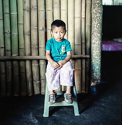 Wilder Benjamin, 3 years old, lives in the village of San Juan, El Mirador with his brother, mother and father. The father works as a day laborer on local farms.