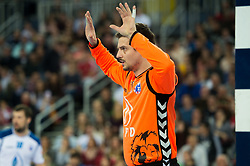 Matevz Skok of HC Prvo Plinarsko drustvo Zagreb during EHF Champions eague 2016/17 handball match between HC Prvo Plinarsko Drustvo Zagreb and RK Celje Pivovarna Lasko, on March 9th, 2017 in Arena Zagreb, Croatia. Photo by Martin Metelko / Sportida
