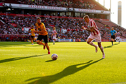 James McClean of Stoke City runs with the ball - Mandatory by-line: Robbie Stephenson/JMP - 25/07/2018 - FOOTBALL - Bet365 Stadium - Stoke-on-Trent, England - Stoke City v Wolverhampton Wanderers - Pre-season friendly