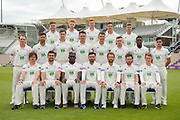 Hampshire County Cricket Club Specsavers County Championship team photo during the 2019 press day for Hampshire County Cricket Club at the Ageas Bowl, Southampton, United Kingdom on 27 March 2019.