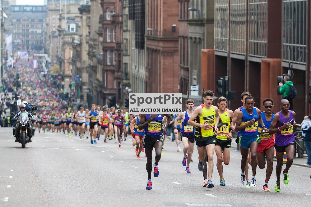 The Great Scottish Run Half Marathon in Glasgow on 04 October 2015<br /><br />Elite Runners begin the half marathon from George Square, running up St Vincent Street.<br /><br /><br />(c) Russell G Sneddon / SportPix.org.uk