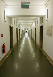 Interior corridor of historic Finance Ministry or Bundesministerium der Finanzen in Mitte Berlin Germany
