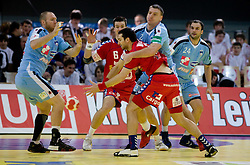 Ales Pajovic, Miladin Kozlina of Slovenia during the Men's Handball European Championship Main Round match between Slovenia and Czech republic at the Olympia Hall on January 24, 2009 in Innsbruck, Austria.  (Photo by Vid Ponikvar / Sportida) - on January 2010