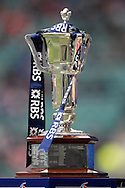 Picture by Andrew Tobin/Focus Images Ltd +44 7710 761829.10/03/2013.  The RBS 6-Nations trophy during the RBS 6 Nations match at Twickenham Stadium, Twickenham.