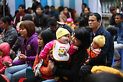 168,  Nguyen Tuong Vi waits with mum during the second day of screening.<br /> <br /> 25th Anniversary of Operation Smile in Vietnam mission November 15th - 23rd 2014.  Vietnam Cuba Friendship Hospital. Hanoi. Vietnam.<br /> <br /> (Operation Smile Photo - Zute Lightfoot)