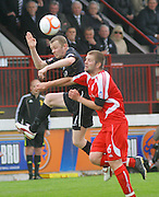 Ayr's Scott McLaughlin and Brechin's Neil Janczyk - Brechin City v Ayr United, IRN BRU Scottish Football League 1st/2nd Division Play Off Final 2nd leg at Glebe Park..© David Young Photo.5 Foundry Place.Monifieth.Angus.DD5 4BB.Tel: 07765252616.email: davidyoungphoto@gmail.com.http://www.davidyoungphoto.co.uk