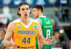 Luka Voncina of Sixt Primorska reacts during basketball match between KK Sixt Primorska and KK Petrol Olimpija in semifinal of Spar Cup 2018/19, on February 16, 2019 in Arena Bonifika, Koper / Capodistria, Slovenia. Photo by Vid Ponikvar / Sportida