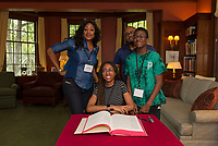 St Pauls School book signing at the Rectory.  ©2019 Karen Bobotas Photographer
