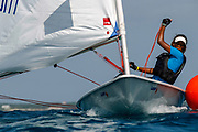 World Sailing Emerging Nations Program - Boca Chica Sailing Club, Santo Domingo 08/19/2017 - DAY 1- Neffert Peña passes close to a buoy during her practice