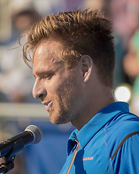 February 25, 2018 - Delray Beach, FL, US - Profile portrait of PETER GOJOWCZYK (Ger) at the Delray Beach Tennis Stadium where he lost in the Delray Beach Open Men's Single Finals to FRANCIS TIAFOE (US) 6-1, 6-4. (Credit Image: © Arnold Drapkin via ZUMA Wire)