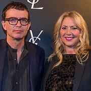 NLD/Amsterdam//20140324 - Filmpremière Yves Saint Laurent, Fiona Hering en Piet Paris