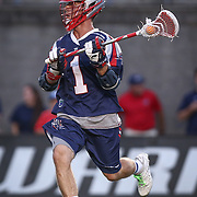 Will Manny #1 of the Boston Cannons runs with the ball during the game at Harvard Stadium on August 9, 2014 in Boston, Massachusetts. (Photo by Elan Kawesch)