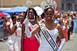 Ms. Savannah Lyons Anthony, Carnival Queen 2012 leads the procession of former queens