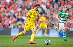 DUBLIN, REPUBLIC OF IRELAND - Wednesday, May 14, 2014: Liverpool's Fabio Borini in action against Shamrock Rovers during a postseason friendly match at Lansdowne Road. (Pic by David Rawcliffe/Propaganda)