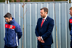 Mark Ashton looks on as Representatives of Bristol City take part in a ceremony to plant tree's in memory of the 7 Bristol City player's who lost their lives serving during WW1 - Rogan/JMP - 09/11/2018 - FOOTBALL - Failand Training Ground - Bristol, England.