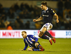 February 12, 2019 - London, England, United Kingdom - L-R Sheffield Wednesday's Barry Bannan and Ryan Leonard of Millwall.during Sky Bet Championship match between Millwall and Sheffield Wednesday at The Den Ground, London on 12 Feb 2019. (Credit Image: © Action Foto Sport/NurPhoto via ZUMA Press)