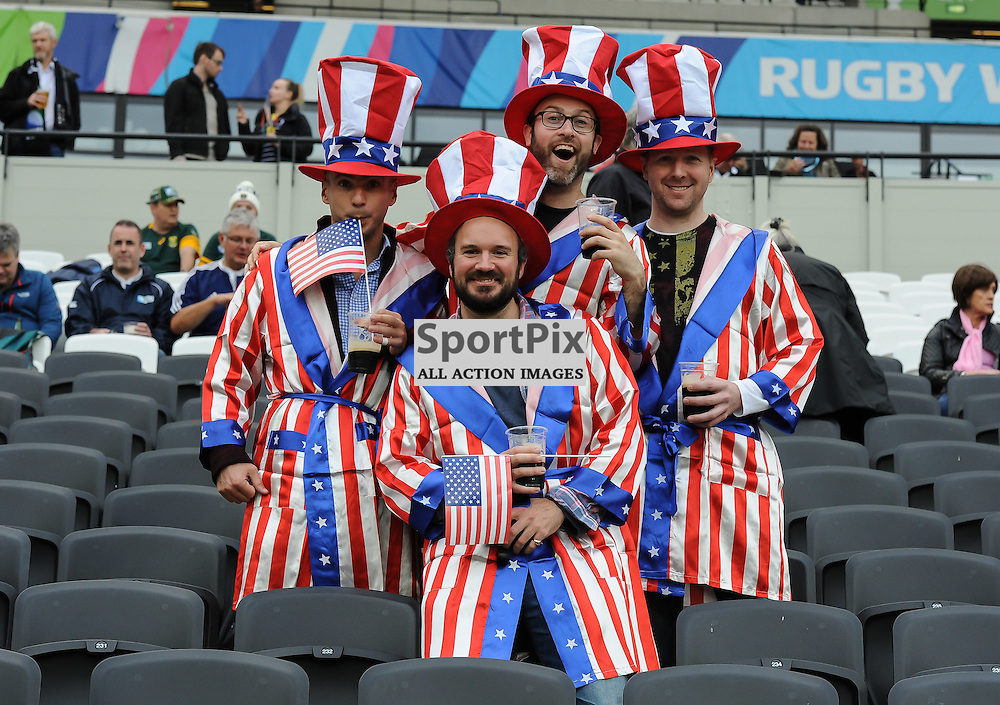 USA fans in good spirits before kick off (c) Simon Kimber | SportPix.org.uk