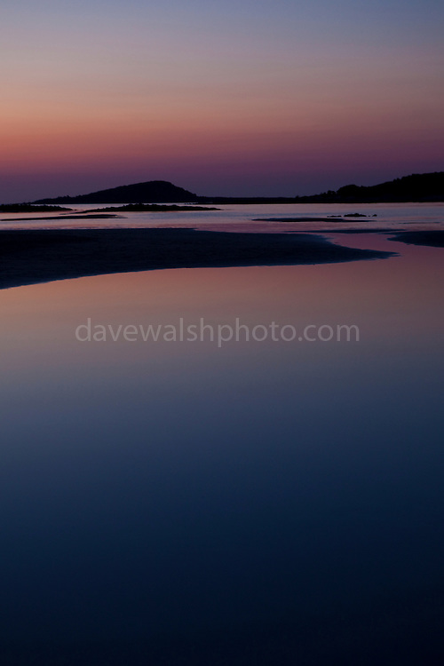 The famous Elafonisi beach on Crete, at sunset.