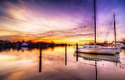 Purple Sunrise at the Pier, Babylon Village, Long Island, New York