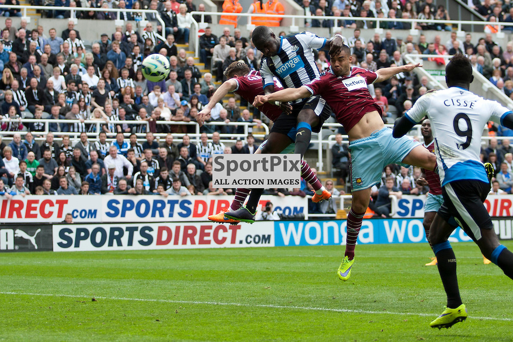 Moussa Sissoko scores a goal in the Newcastle v West Ham, Barclays Premiership match at St James&rsquo; Park, Newcastle 24 May 2014<br /><br />(c) Russell G Sneddon / SportPix.org.uk