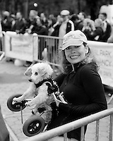 Caryn Rosenthal and Her Dog Jax