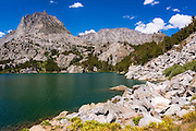 Two Eagle Peak above Big Pine Lake 5, John Muir Wilderness, Sierra Nevada Mountains, California USA