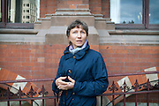 Marina Litvinenko, 51, the widow of poisoned ex-KGB Russian spy Alexander Litvinenko, is portrayed in front of King's Cross Saint Pancreas, London, UK. Alexander Litvinenko was assassinated with radioactive Polonium in London in November 2006.
