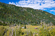 Ranch along the Dolores River, San Juan National Forest, Colorado