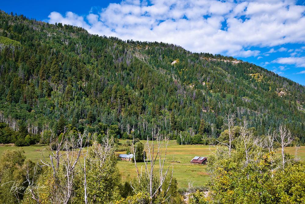Ranch along the Dolores River, San Juan National Forest, Colorado