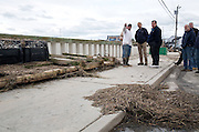 31.OCTOBER.2012. NEW JERSEY<br /> <br /> PRESIDENT BARACK OBAMA AND NEW JERSEY GOV. CHRIS CHRISTIE TALK WITH CITIZENS WHO ARE RECOVERING FROM HURRICANE SANDY, WHILE SURVEYING STORM DAMAGE IN BRIGANTINE, NEW JERSEY.  <br /> <br /> BYLINE: EDBIMAGEARCHIVE.CO.UK<br /> <br /> *THIS IMAGE IS STRICTLY FOR UK NEWSPAPERS AND MAGAZINES ONLY*<br /> *FOR WORLD WIDE SALES AND WEB USE PLEASE CONTACT EDBIMAGEARCHIVE - 0208 954 5968*