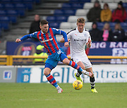 Inverness' Iain Vigurs and Dundee's Mark O'Hara - Inverness Caledonian Thistle v Dundee in the Ladbrokes Scottish Premiership at Caledonian Stadium, Inverness.Photo: David Young<br /> <br />  - © David Young - www.davidyoungphoto.co.uk - email: davidyoungphoto@gmail.com