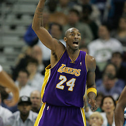 23 December 2008:  Los Angeles Lakers guard Kobe Bryant (24) calls for the ball during a 100-87 loss by the New Orleans Hornets to the Los Angeles Lakers at the New Orleans Arena in New Orleans, LA. .