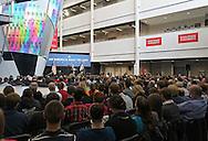 About 700 people listen to Vice President Joe Biden speak at Iowa State University in Ames, Iowa on Thursday, March 1, 2012.