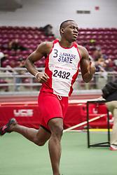 Boston University Multi-team indoor track & field, men 400 meter, heat 1, Delaware State, 2432