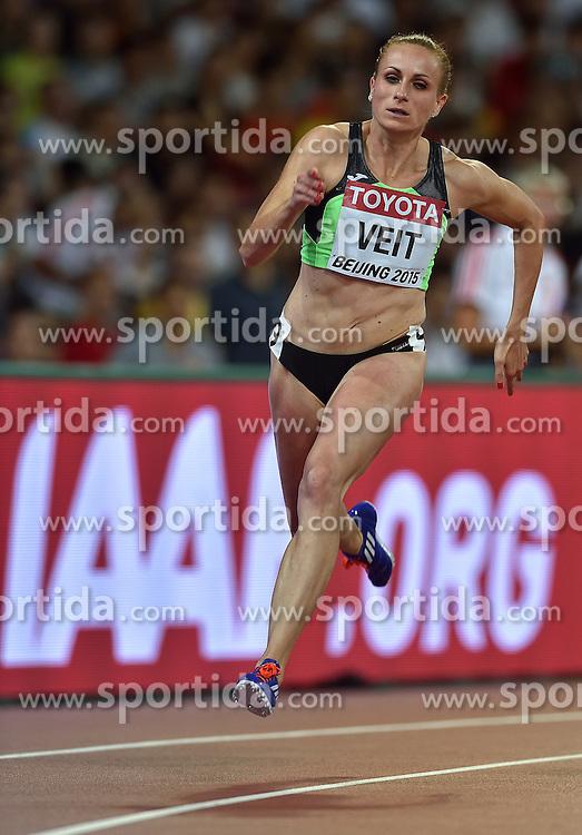 26-08-2015 CHN: IAAF World Championships Athletics day 5, Beijing<br /> Sabina Veit SLO on the 200 m<br /> Photo by Ronald Hoogendoorn / Sportida