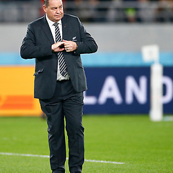 Steve Hansen All Blacks Head Coach of New Zealand (All Blacks) during the New Zealand and Ireland Rugby World Cup  Quarter-Final at the Tokyo Stadium,376-3 Nishimachi, Chofu, Tokyo 182-0032 Saturday 19th October 2019. (Mandatory Byline -Steve Haag Sports Hollywoodbets)