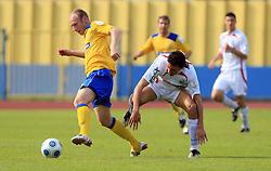 Kristjan Polovanec and Joao Gabriel Da Silva at 33rd Round of PrvaLiga Telekom Slovenije 2008/2009 league match between NK Luka Koper and NK Labod Drava Ptuj, on May 9, 2009, in SRC Bonifika, Koper, Slovenia. Drava won 2:1. (Photo by Vid Ponikvar / Sportida)