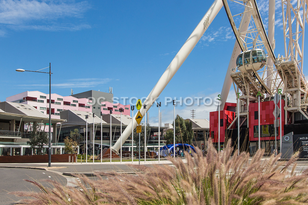 Melbourne Star Observation Wheel and Harbour Town Shopping Area