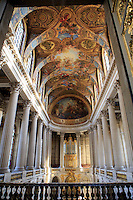 The view from the King's private entrance to the Versailles Chapel, Palace of Versailles, Paris, France