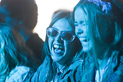 Fans of the band Sound of Guns, play the Goldenvoice Arena, Rockness, Saturday, 11th June 2011..RockNess 2011, the annual music festival which takes place in Scotland at Clune Farm, Dores, on the banks of Loch Ness near Inverness..Pic ©2011 Michael Schofield. All Rights Reserved..