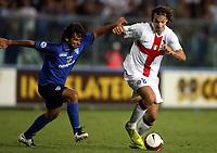 """Empoli 01/09/2007 Stadium """"Carlo Castellani"""" <br /> Empoli-Inter 0-1 Campionato Serie A 2007/2008 Matchday 2<br /> Nella foto:  Ibrahimovic (Inter) contro Adani (Empoli)<br /> Foto Gianni Nucci Insidefoto"""
