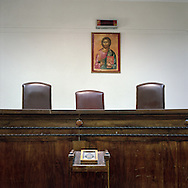 A courtroom in Athens, Greece