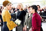 18-10-2013 – AMSTERDAM – Queen Maxima during the opening of the Exhibition of Kazimir Malevich / and the Russian Avangarde in The Stedelijk Museum in Amsterdam. COPYRIGHT ROBIN UTRECHT