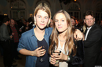 Tom Odell and girlfriend Violet Hesketh at The BRIT Awards Launch, The Savoy Hotel, London. Thursday, Jan 10, 2013 (Photo/John Marshall JME)