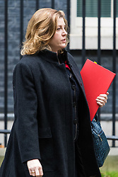 London, November 29 2017. Secretary of State for International Development Penny Mordaunt is seen walking up Downing Street to a meeting at No. 10. © Paul Davey